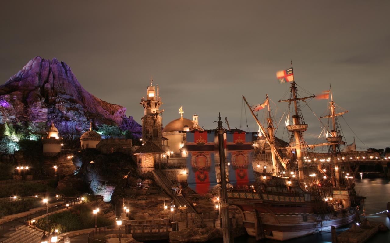 東京ディズニーシー夜景壁紙夜景画像